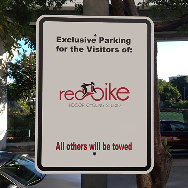 Exclusive Parking Reflective Aluminum Sign