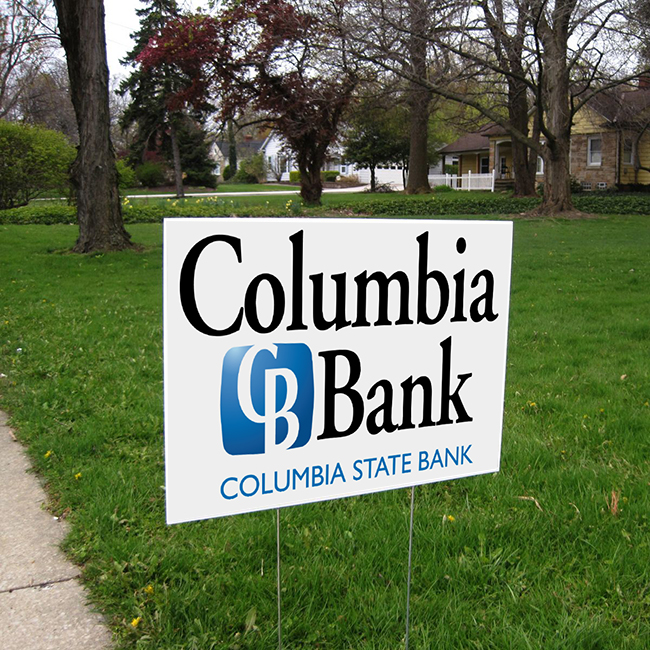 Columbia State Bank Yard Sign