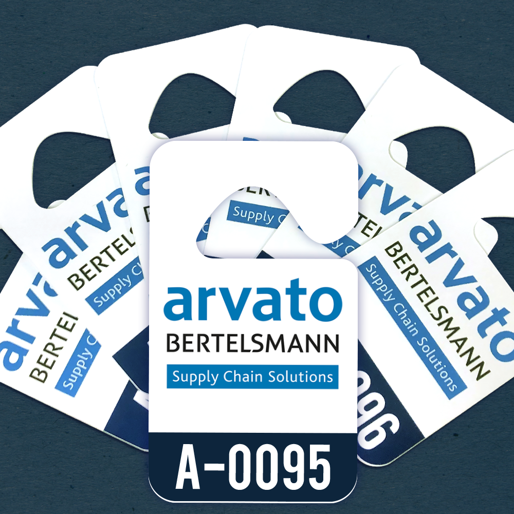 Arvato Parking Permit Hang Tag