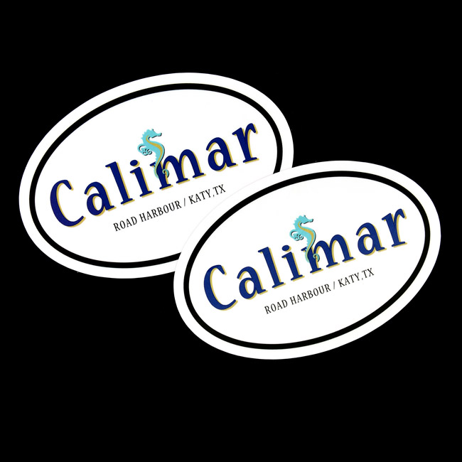 Calimar Oval Stickers