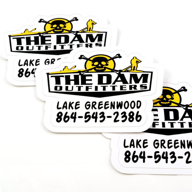 The Dam Outfitters Die-Cut Stickers