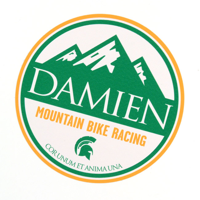 Damien Circle Stickers