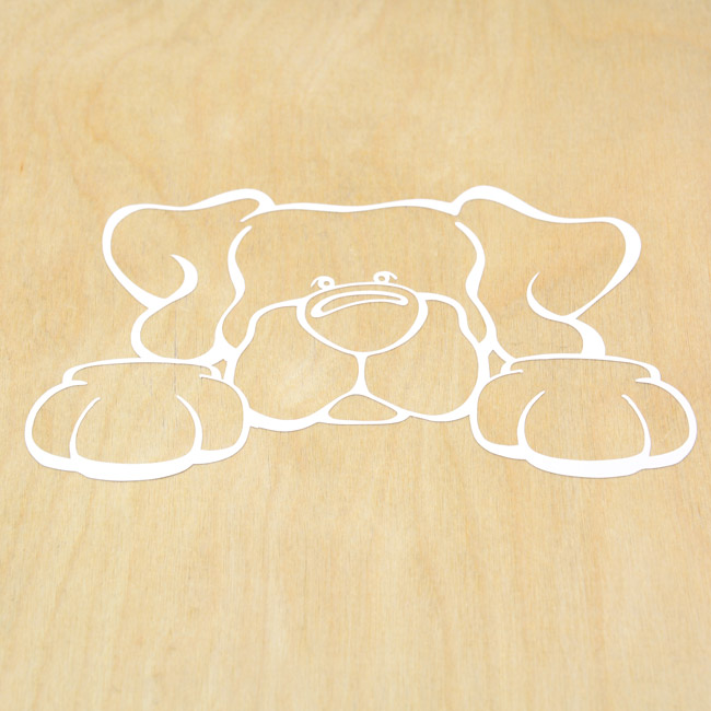 Cute Dog Cut-Out Sticker