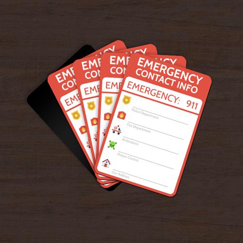 Emergency Numbers Magnet