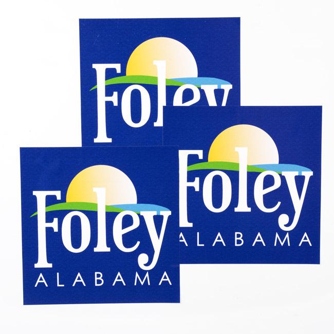 Foley Alabama Square Stickers