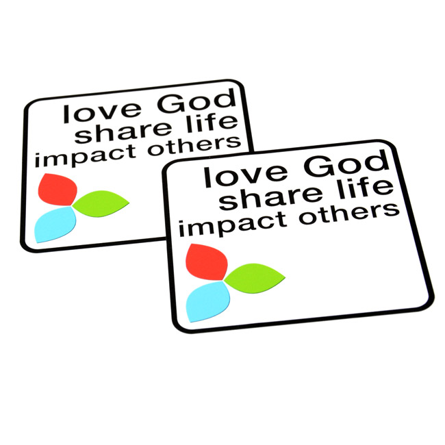 Impact Others Rounded Rectangle Stickers