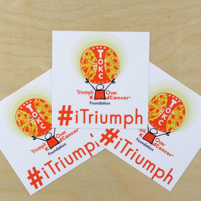 iTriumph Rectangle Stickers