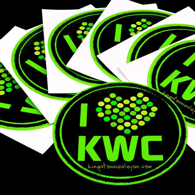KWC Circle Stickers