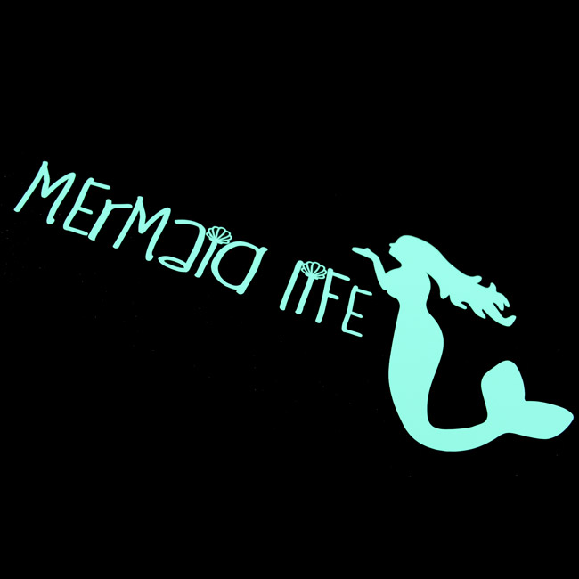 Mermaid Life Cut-Out Stickers