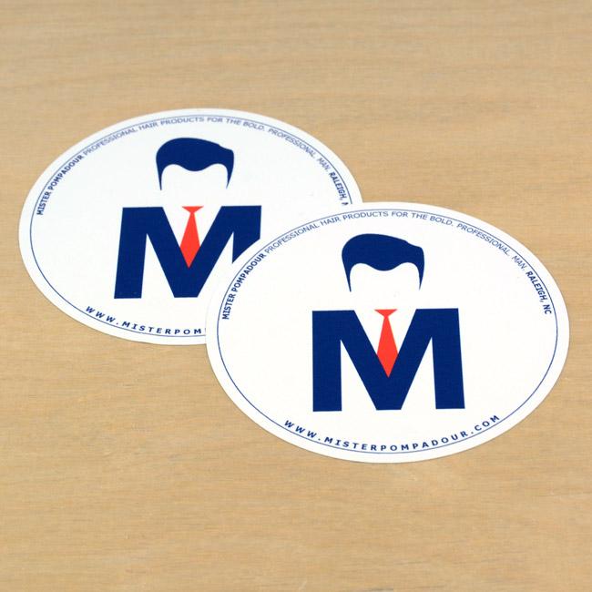 Mister Pompadour Circle Stickers