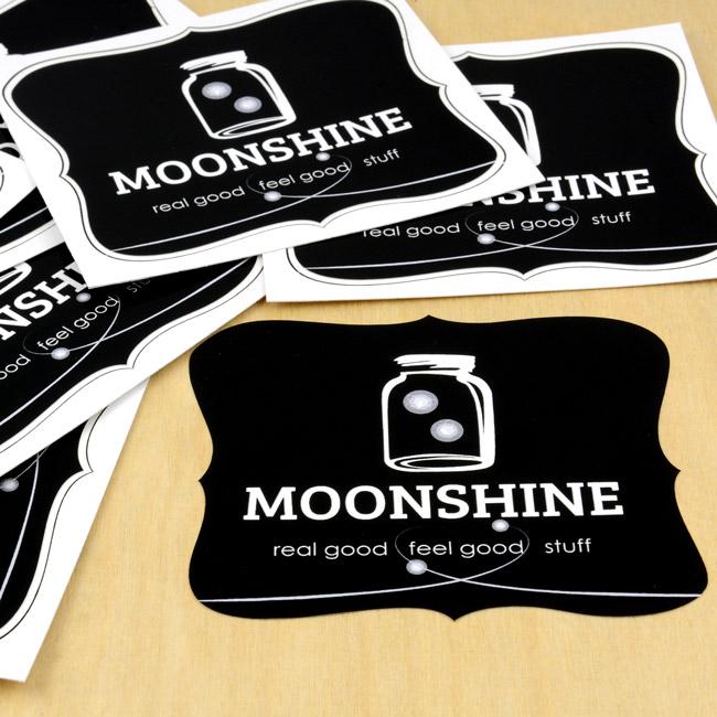 Moonshine Die-Cut Stickers