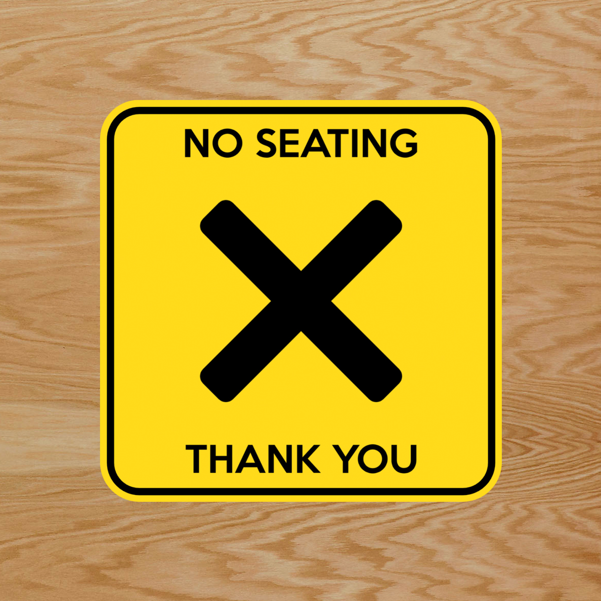 "Customize These Social Distancing ""No Seating"" Table Stickers"