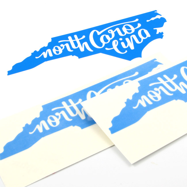 North Carolina Cut-Out Stickers