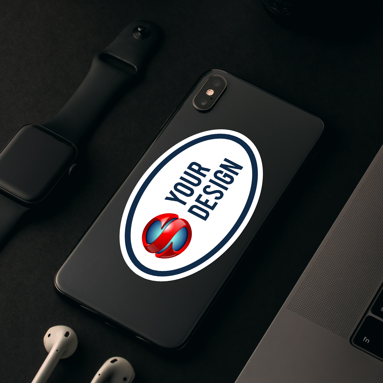 Oval Stickers Phone