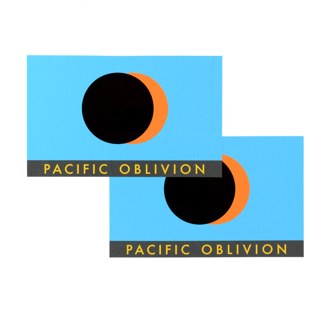 Pacific Oblivion Rectangle Stickers