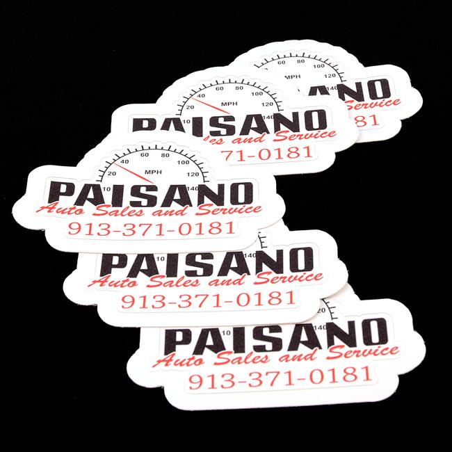 Paisano Auto Die-Cut Stickers