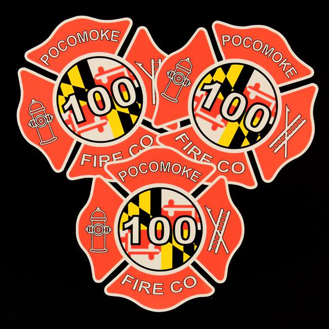 Pokomoke Fire Die-Cut Stickers