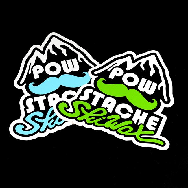 POW Stache Die-Cut Stickers