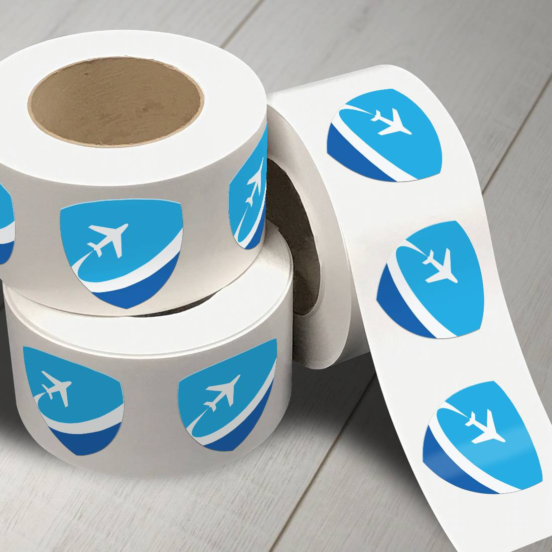 Flight Roll Label Stickers
