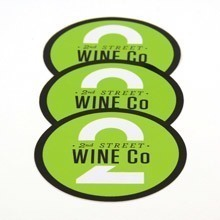 2nd Street Wine Circle Stickers