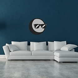 Moon with Sunglasses Wall Decal