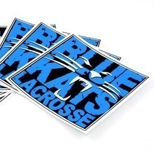 Blue Cats Lacrosse Square Stickers