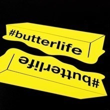 #butterlife Cutout Stickers