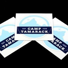 Camp Tamarack Circle Stickers
