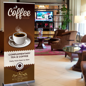 Coffee Hour Retractable Banner