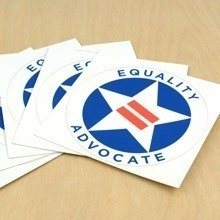 Equality Advocate Circle Stickers