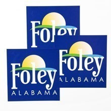 Foley Alabama Square Stickers