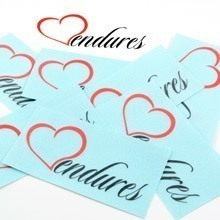 Love Endures Multi-Color Cut-Out Stickers