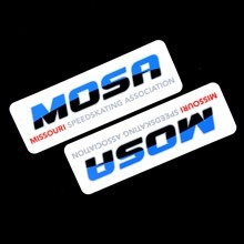 Missouri Speed Skating Rounded Rectangle Stickers