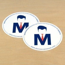 Mister Pompadour Circle Stickers