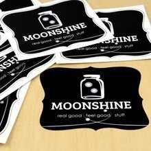 Moonshine Die-Cut Stickers