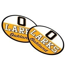 Oakland Larks Circle Stickers