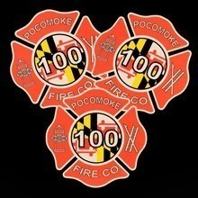 Pokomoke Fire Die-Cut Stickers