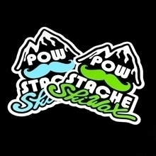 POW Stache Die-Cut Stickers