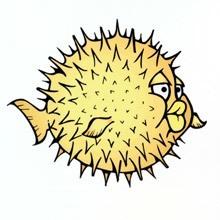 Puffer Fish Die-Cut Sticker