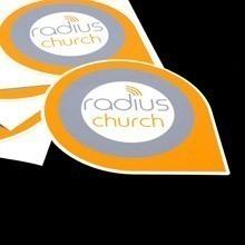 Radius Church Die-Cut Sticker