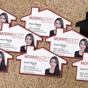Real Estate Agent Die Cut Magnets