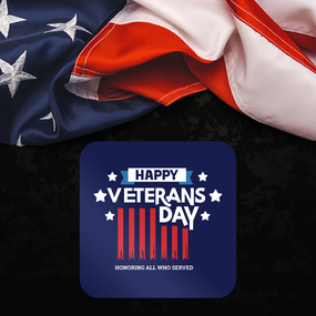 Veteran's Day Rounded Rectangle Sticker