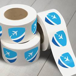 Flight Roll Label Stickers