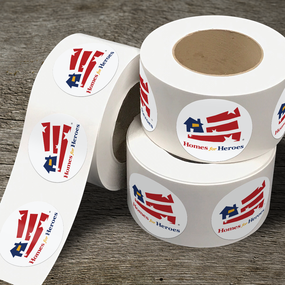 Homes for Heroes Roll Label Stickers