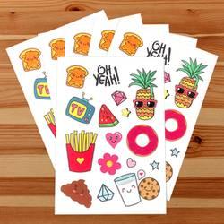 Fun Foods Sticker Sheets
