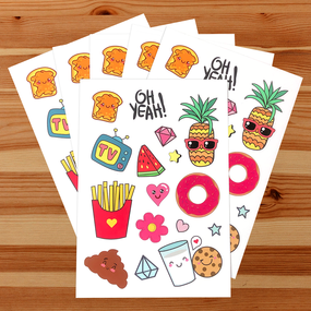 Fun Foods Sticker Sheets