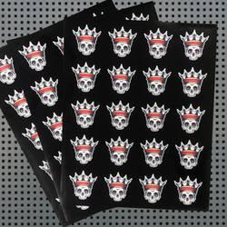 Skull King Tattoo Sticker Sheets