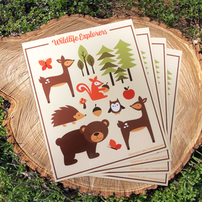 Wildlife Explorers Sticker Sheets