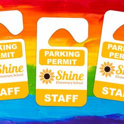 Shine Parking Permit Hang Tag