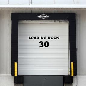 Loading Dock Vinyl Lettering Stickers